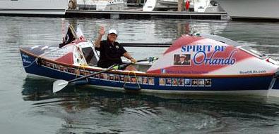 Row of life boat
